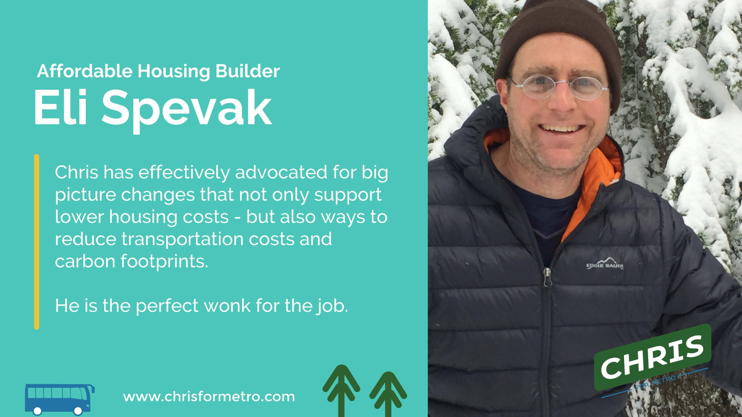 Eli Spevak Endorsement
