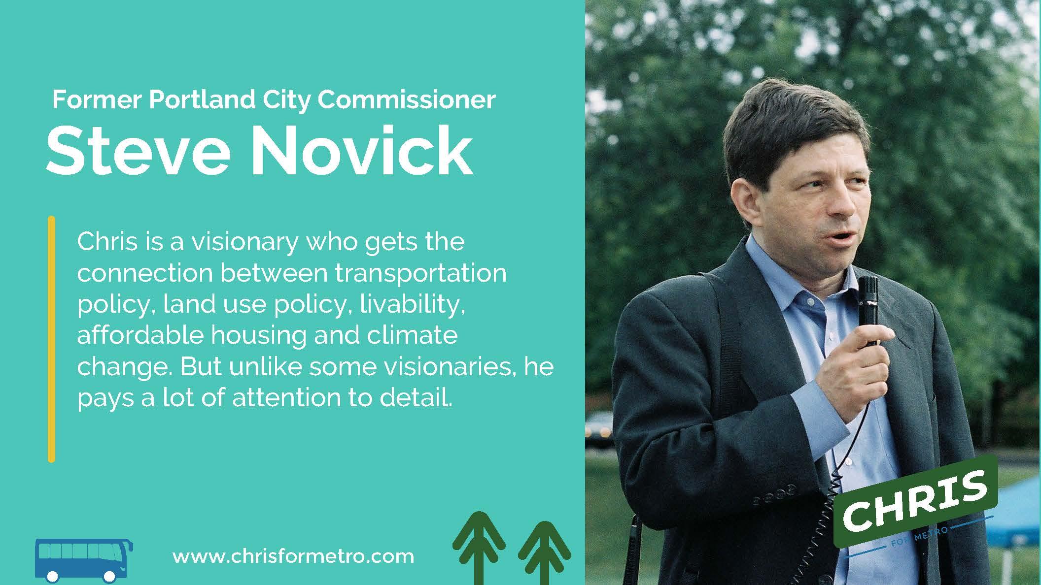 Steve Novick Endorsement