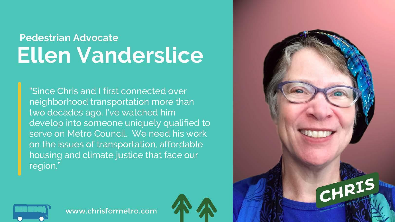 Ellen Vanderslice Endorsement